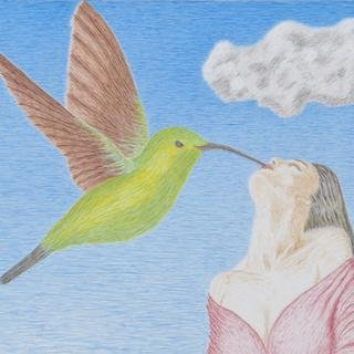 The Ecstasy of the Hummingbird Kiss art for sale