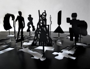 Untitled (Sculpture Silhouette Model), by Peter Coffin