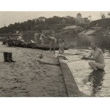 Simon Lee, Untitled (German Soldiers Bathing in France, 1942) (still from Where is the Black Beast?, 2010)