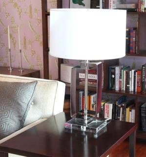 "7. Mitchell Gold + Bob Williams Beckett Table Lamp<br>Lamp height: 29""<br>Shade: 18.5"" Diameter x 10.5""H<br> $150"