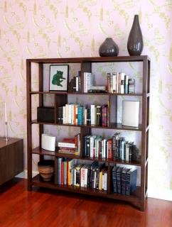 "8. Maria Yee Ventana Squares Bookshelf<br> Color: Coffee<br> 61""W x 14""D x 69""H<br> $1,950"
