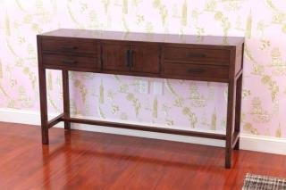"10. Maria Yee Metro Sideboard<br> Color: Coffee<br> 54""W x 14.25""D x 29""H<br> $1,500"