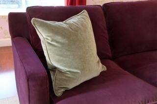 "21. Solid Throw Pillow (sold as a pair)<br> Color: Grey Solid<br> 21""W x 21""L<br> $50"