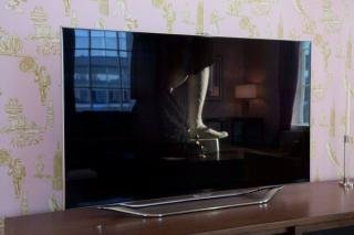 "28. Samsung 55"" LED TV<br> 48.5""W x 9""D x 31""H<br> $1,950"