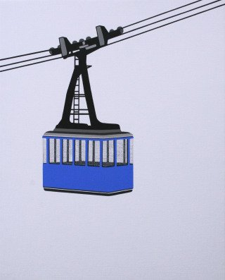 William Steiger Aerial Tram Blue art for sale
