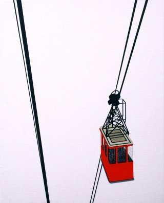 William Steiger Aerial Tram Red art for sale
