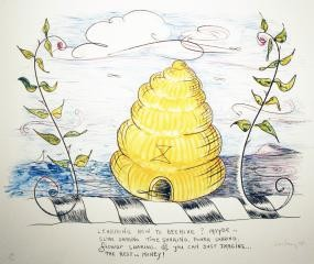 William Wiley untitled (learning how to Bee Hive) art for sale